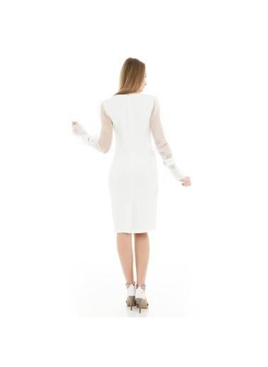Trend Elbise Ekru